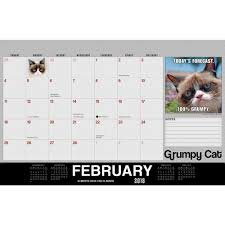 Small Desk Pad Grumpy Cat 2018 Desk Pad 764453002966 Calendars