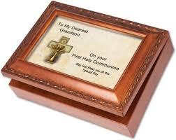 communion jewelry box cottage garden communion grandson woodgrain box