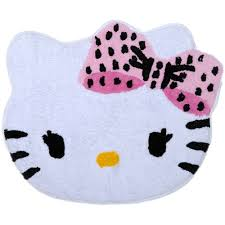 hello kitty dots j u0027adore tufted bath rug walmart com
