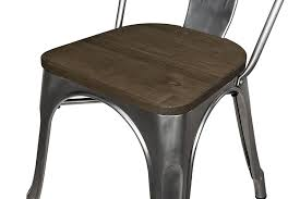 iron dining chair amazon com dhp fusion metal dining chair with wood seat set of