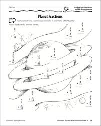 planet fractions adding fractions with unlike denominators