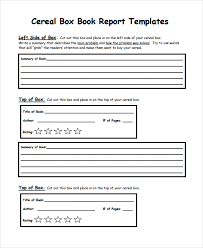 fracas report template cereal box book report 3rd grade professional and high quality