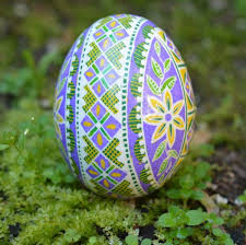 large easter eggs lilac pysanka eggs beautiful color combo i am addicted to it