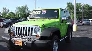jeep car green 2013 jeep wrangler sport suv gecko pearlcoat green for sale dayton