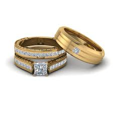 wedding ring trio sets buy our princess trio wedding ring sets fascinating diamonds
