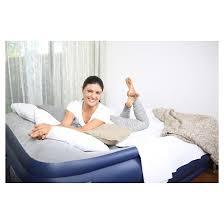 bestway nightrest raised air mattress double high queen blue