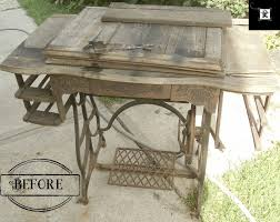 sewing machine table ideas treadle sewing machine upcycle redo it yourself inspirations