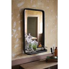 Framed Mirrors Bathroom Raw Metal Framed Mirror With Shelf Kalalou Rectangle Mirrors Home