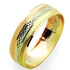 6mm diamond accent 14k tri color gold 6mm diamond cut wedding band