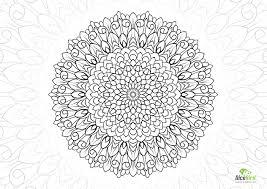 sun flower mandala free coloring books adults