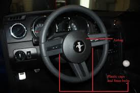 steering wheel for mustang how to install a ford racing gt500 steering wheel on your 2005
