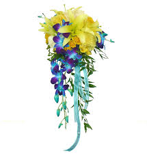 wedding flowers halifax dyed dendrobium orchid bridal bouquets blue orchid bridal