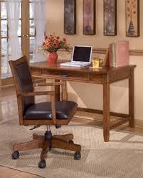 Wooden Home Office Desk Cross Island Traditional Med Brown Oak Wood Home Office Desk