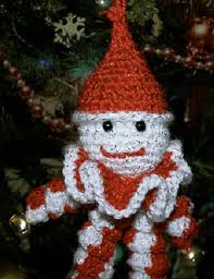 ravelry peppermint yo yo clown christmas ornaments pattern by