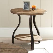 Wood Round End Table Steve Silver Company Denise Round End Table In Light Oak Finish