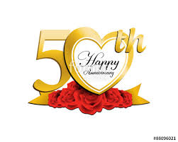 50 wedding anniversary wedding anniversary logo heart 50 stock image and royalty free