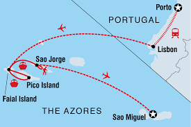 Azores Map Azores And Mainland Portugal Portugal Tours Intrepid Travel Au