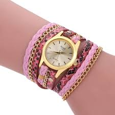 pink bracelet watches images Factory price women bracelet watch colorful rivets leather small jpg