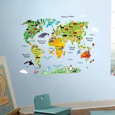 North America Wall Map by Amazon Com Homeevolution Large Kids Educational Animal Famous