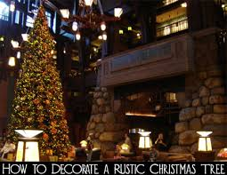 how to decorate a rustic christmas tree rustic christmas and