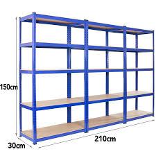 Metal Shelving Unit Seville Rolling Garage Commercial Retail Metal Storage Shelving