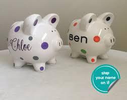 engraved piggy banks custom piggy bank etsy