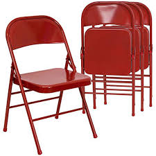 Red Metal Chair Chairs In Bulk Thesecretconsul Com