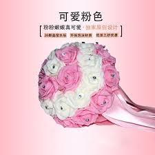 dã coration mariage custom ivory bouquet pearl bridal bouquets de mariage