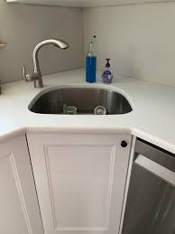 ikea corner kitchen cabinets hacked a corner sink base using the basic guidelines at