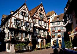 german traditional architecture contains white boxy houses with