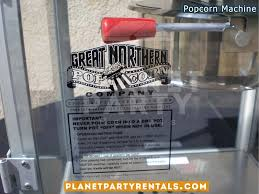 party rentals san fernando valley popcorn machine