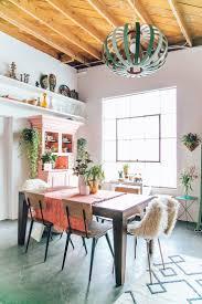 pops of pink modern boho dining room home pinterest boho