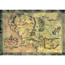 map hobbit map of middle earth the lord of the rings the hobbit