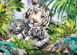 acrylic paint by numbers kit canvas 50 40cm 8210 white tiger mom u0027s