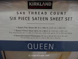 Best Sheet Set Kirkland Signature 540 Thread Count Sateen Sheet Set