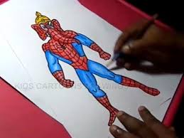 how to draw spiderman ganesha drawing for kids step by step youtube