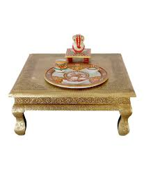 Snapdeal Home Decor Brass Fitted Decorative Chowki Bajot Buy Brass Fitted Decorative