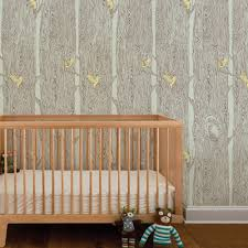 forest wallpaper celadon green yellow peel and stick