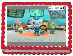 octonauts birthday cake octonauts edible image cake topper birthday cake personalized free