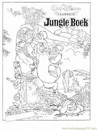 jungle book characters coloring pages getcoloringpages