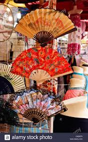 hand fans for sale ladies hand fans on sale in chinatown market stock photo 37180615