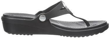 crocs like shoes crocs women u0027s sanrah beveled circle wedge thong
