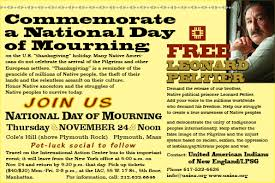 commemorate national day of mourning nov 24 at plymouth mass