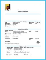 Resume Sample Pdf Philippines by Call Center Resume Sample No Experience Free Resume Example And