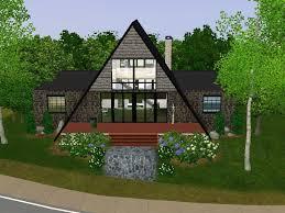 a frame style house mod the sims modern stone no cc