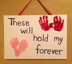 baby valentines day handprint footprint art aiden craft ideas