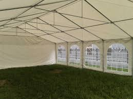 Carport Canopy Heavy Duty Pvc Party Tent 49 U0027x23 U0027 White Large Party Tent Easy To Set Up