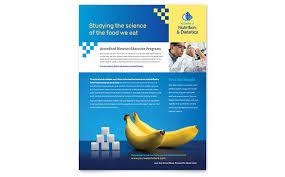 ngo brochure templates dietitian flyer template design