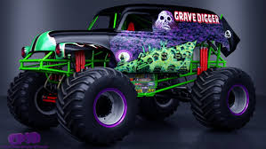 3d monster truck racing grave digger monster truck 3d model in suv 3dexport