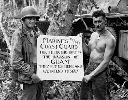 Marines Holding Flag Guam Mariana Islands Photos Remembering The Battle Of Guam
